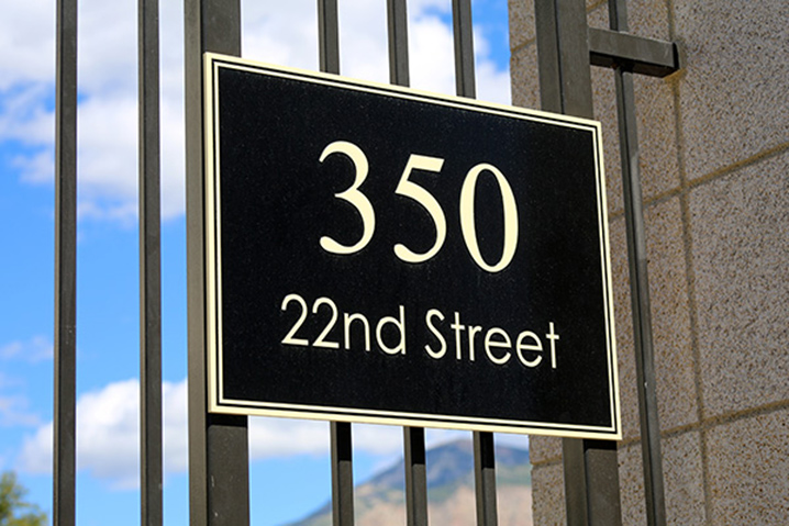 Custom address signs by VizComm Signs and Graphics in Fountain Valley, CA
