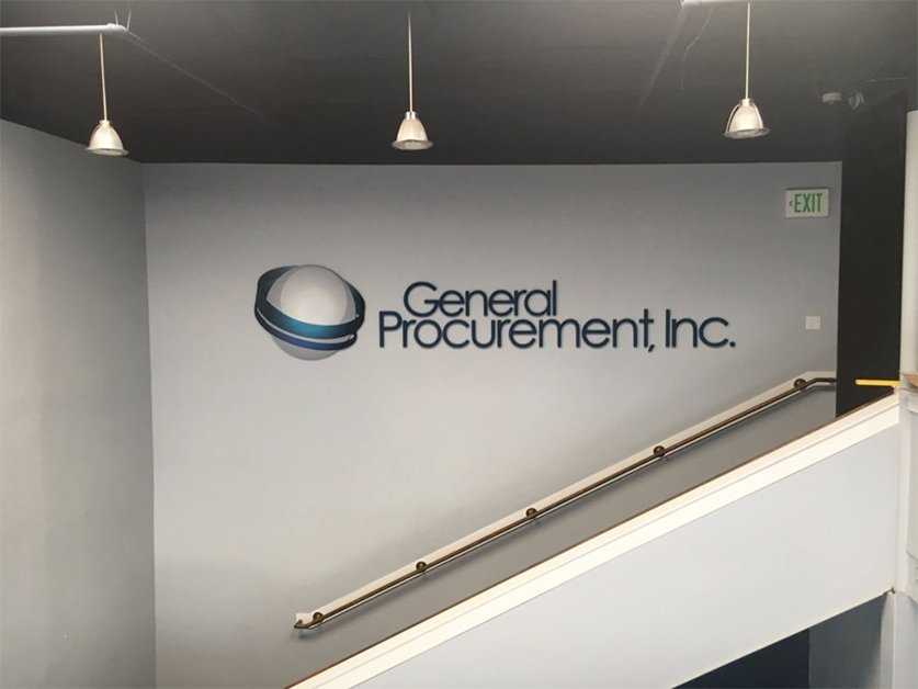 Attractive custom office lobby signs in Fountain Valley, CA