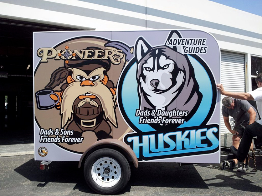 Customized truck wraps and decals by VizComm