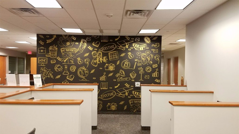 Custom Wall Murals For Business by VizComm