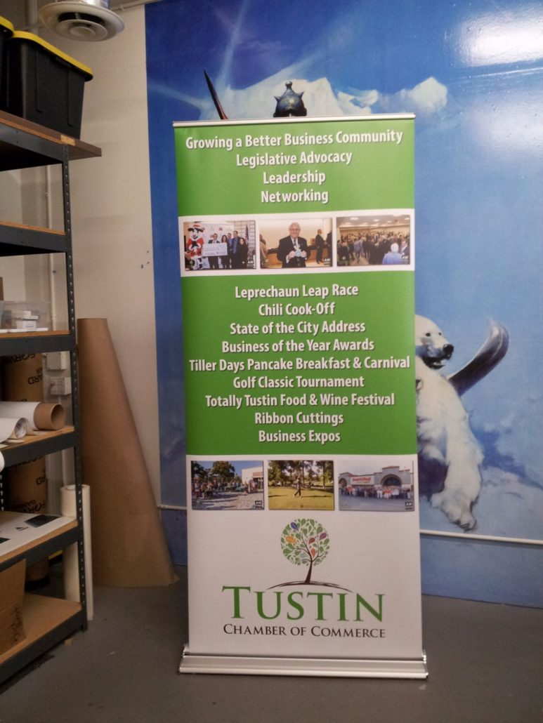 Retractable Banner stands by VizComm Signage Group