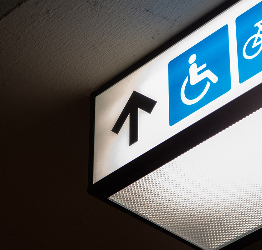 Lighted Directional Signs by VizComm
