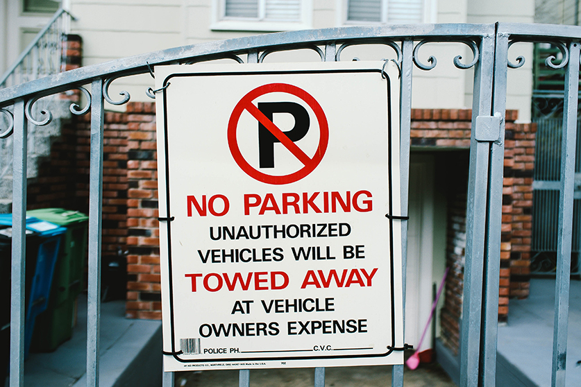 Custom tenant parking only signs in Fountain Valley, CA