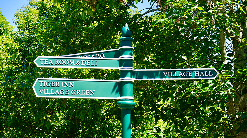 Easy to understand wayfinding signs for your business by VizComm in Fountain Valley, CA