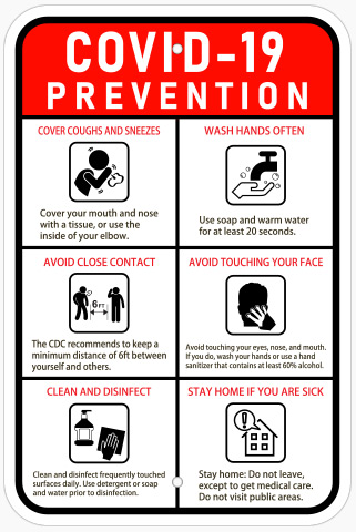 COVID-19 prevention banners