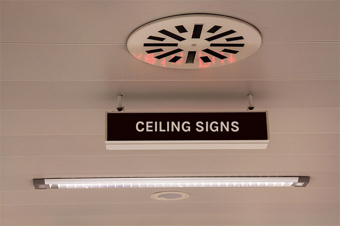 Ceiling Signs Image by VizComm Signs & Graphics