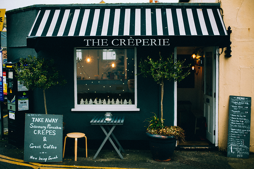 The Creperie fascia signs and graphics