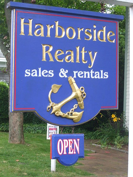 Signage for realtor in California