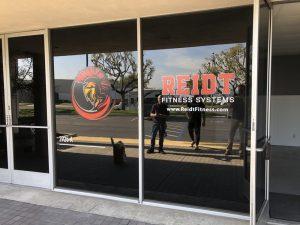 Outdoor business signs for REIDT in Orange County, CA