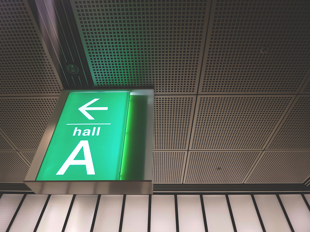 Lighted directional signs