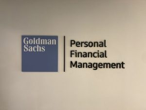 Goldman Sachs Office Lobby Signs in Costa Mesa, California