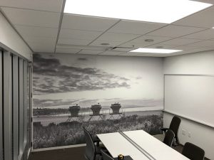 3D Mural Wallpaper Custom Made by VizComm Signs & Graphics