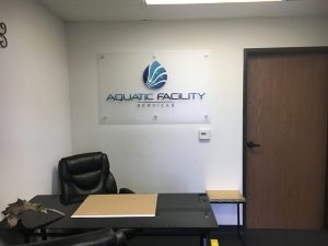 Aquatic Facility Office Lobby Signs by VizComm Signs & Graphics
