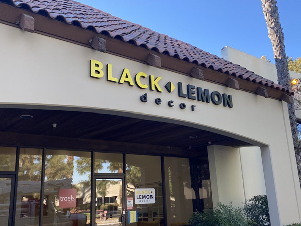 Custom Outdoor Signs for Black Lemon in Fountain Valley, CA