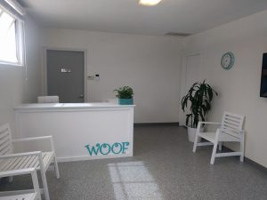 Woof Reception Signs Custom Made by VizComm Signs & Graphics