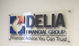 Custom Acrylic Lobby Signs for Delia in Santa Ana, CA