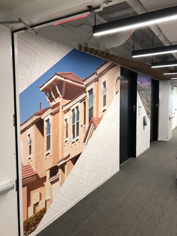 Custom Wall Murals for Elevator Bank