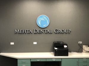 Mehta Dental Clinic Office Lobby Signs in Santa Ana, CA