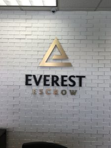 Corporate Lobby Signs for Everest in Orange County, CA