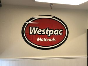 Westpac Lobby Signage Custom Made by VizComm Signs & Graphics