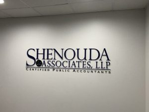Custom Lobby Signs for Shenouda in Orange County, CA