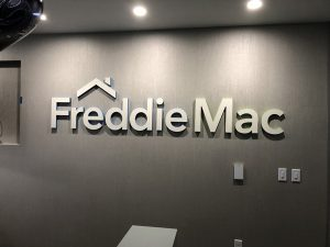 Freddie Mac Lobby Signs