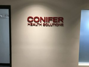 Conifer Health Solutions Office Lobby Signs in Orange County, CA