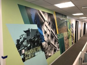 Custom Wall Murals Produced and Installed at Clinet's Workplace