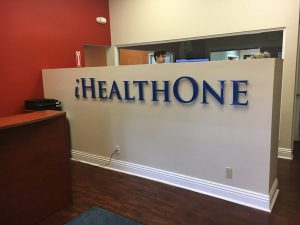 Health One Reception Signs in Fountain Valley, CA