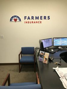 Farmers Insurance Wall Logo Custom Made by VizComm Signs & Graphics