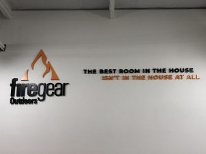 Metal Lobby Office Signs for Firegear Outdoors