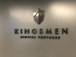 Kingsmen Brushed Aluminum Letters Custom Lobby Signs by VizComm Signs & Graphics