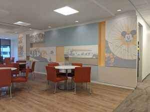 Large 3D Office Wallpaper Murals Installed by VizComm Signs & Graphics